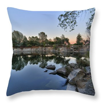 Throw Pillow featuring the photograph The Quinn Quarry by Jim Thompson