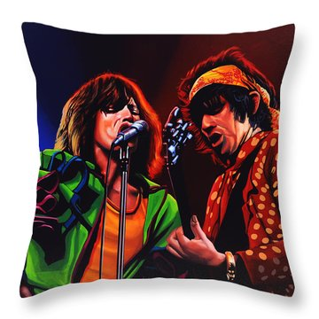 The Rolling Stones 2 Throw Pillow by Paul Meijering