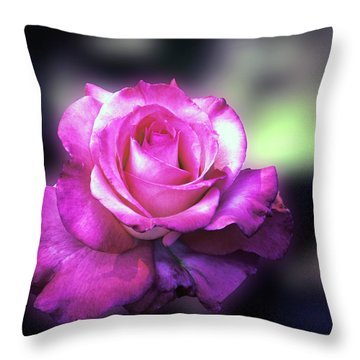 The Rose Again Throw Pillow by William Havle