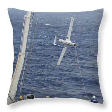 The Rq-21a Small Tactical Unmanned Air Throw Pillow by Stocktrek Images