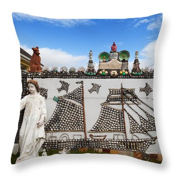 The Shell Cottage In Abbeyside Throw Pillow