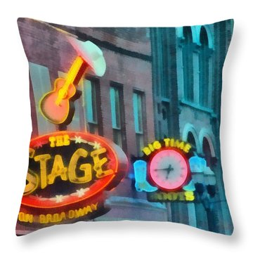 The Stage On Broadway Throw Pillow by Dan Sproul