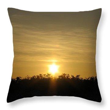 The Sun Of David Throw Pillow