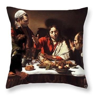 The Supper At Emmaus  Throw Pillow