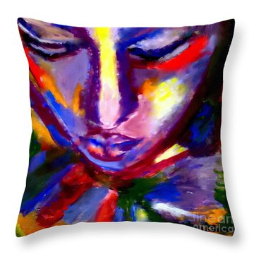Throw Pillow featuring the painting The Universe And Me by Helena Wierzbicki