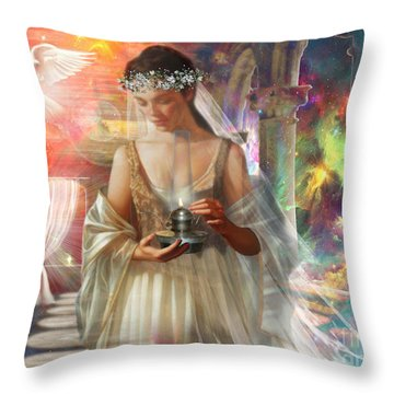 The Waiting Bride Throw Pillow