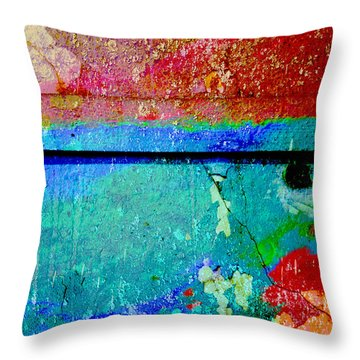The Wall Abstract Photograph Throw Pillow