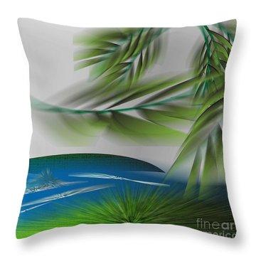 The Wind She Blows Throw Pillow by Iris Gelbart
