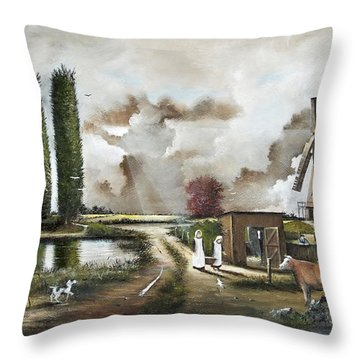 The Windmill Throw Pillow