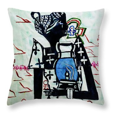 The Wise Virgin Throw Pillow by Gloria Ssali
