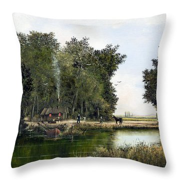The Woodman Throw Pillow