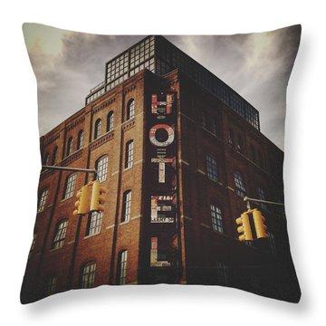 The Wythe Hotel Throw Pillow