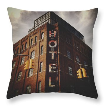 The Wythe Hotel Throw Pillow