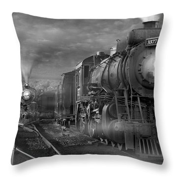 The Yard Throw Pillow by Mike McGlothlen