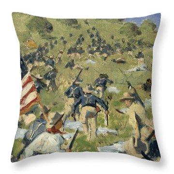 Theodore Roosevelt Taking The Saint Juan Heights Throw Pillow