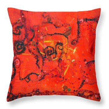 Thermal Denaturation Throw Pillow