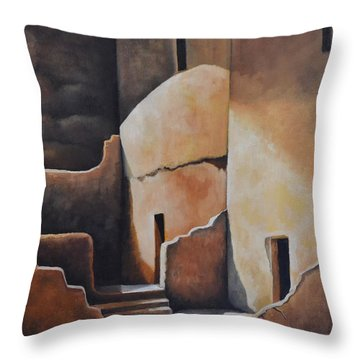 They Were Once Here Throw Pillow by Martin Schmidt