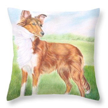 This Is Nibbly Throw Pillow by Ruth Seal