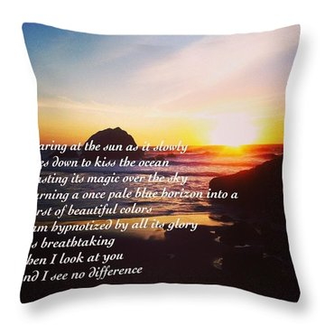 #thoughts #poems #quotes Throw Pillow