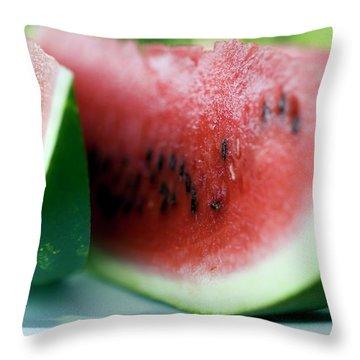 Three Slices Of Watermelon Throw Pillow