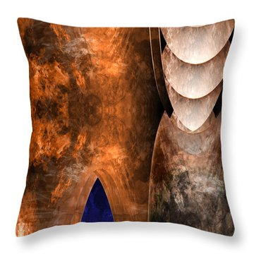 Throneroom Throw Pillow by Christopher Gaston