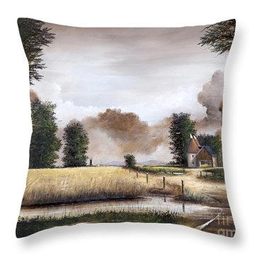 Through The Cornfield Throw Pillow