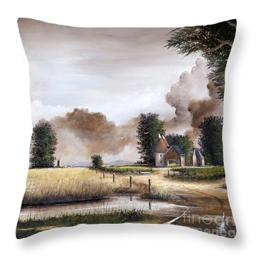 Through The Cornfield Throw Pillow