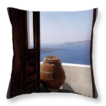 Through This Door Throw Pillow