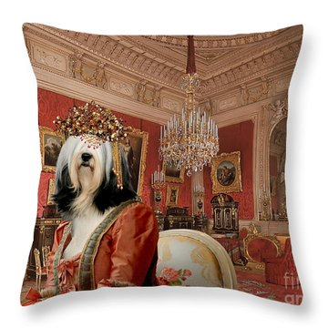 Tibetan Terrier Art Canvas Print Throw Pillow