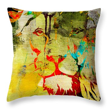 Lion Beauty And Strength Throw Pillow