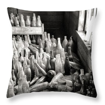 Time In A Bottle Throw Pillow
