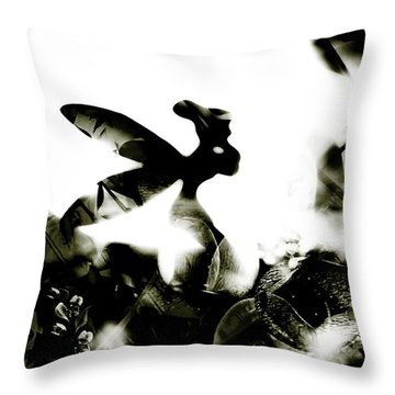Tinker Bell Throw Pillow by Jessica Shelton