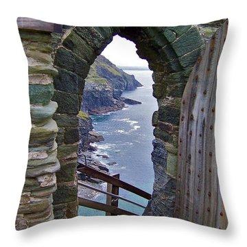 Tintagel Portal Throw Pillow