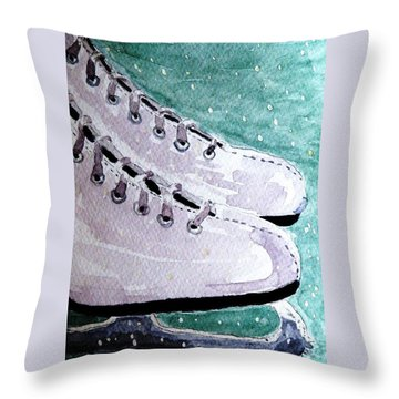 To Skate Throw Pillow by Angela Davies