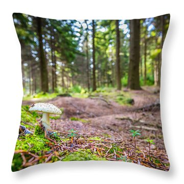Throw Pillow featuring the photograph Toadstool. by Gary Gillette