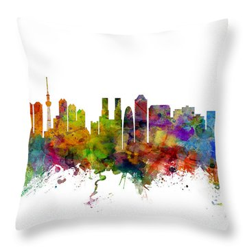 Tokyo Skyline Throw Pillows