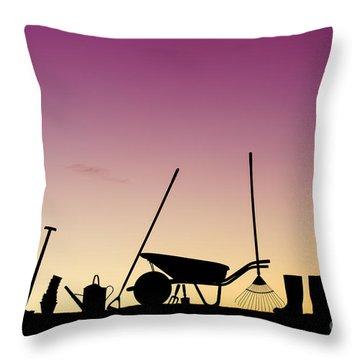 Wheel Barrow Throw Pillows