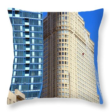 Toronto Architecture Throw Pillow by Valentino Visentini