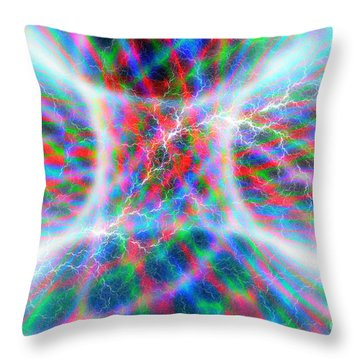 Torus Abstract Throw Pillow by Carol and Mike Werner