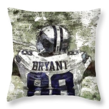 Touchdown Bryant Throw Pillow
