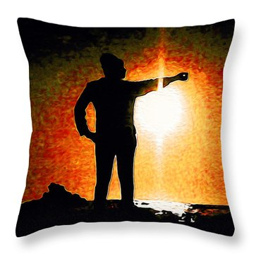 Touching The Sun Throw Pillow