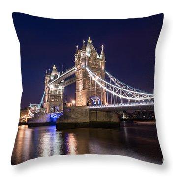 Tower Bridge Throw Pillow by Matt Malloy