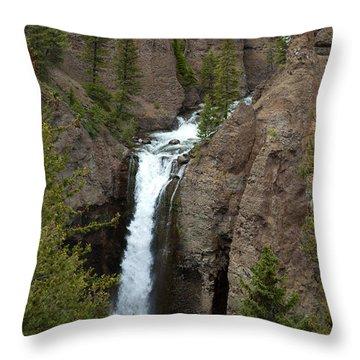 Tower Falls Throw Pillow
