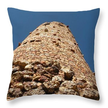 Throw Pillow featuring the photograph Towering Stones by Carlee Ojeda