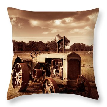 Tractor From Yesteryear Throw Pillow