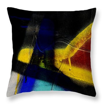 Train Art Abstract Throw Pillow