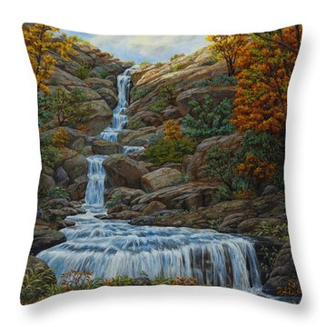 Tranquil Cove Throw Pillow by Crista Forest
