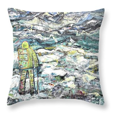 Tranquility Throw Pillow by Evelina Popilian