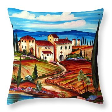 Tranquillita' Toscana Throw Pillow