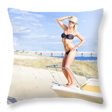 Travel Holiday Lookout Throw Pillow